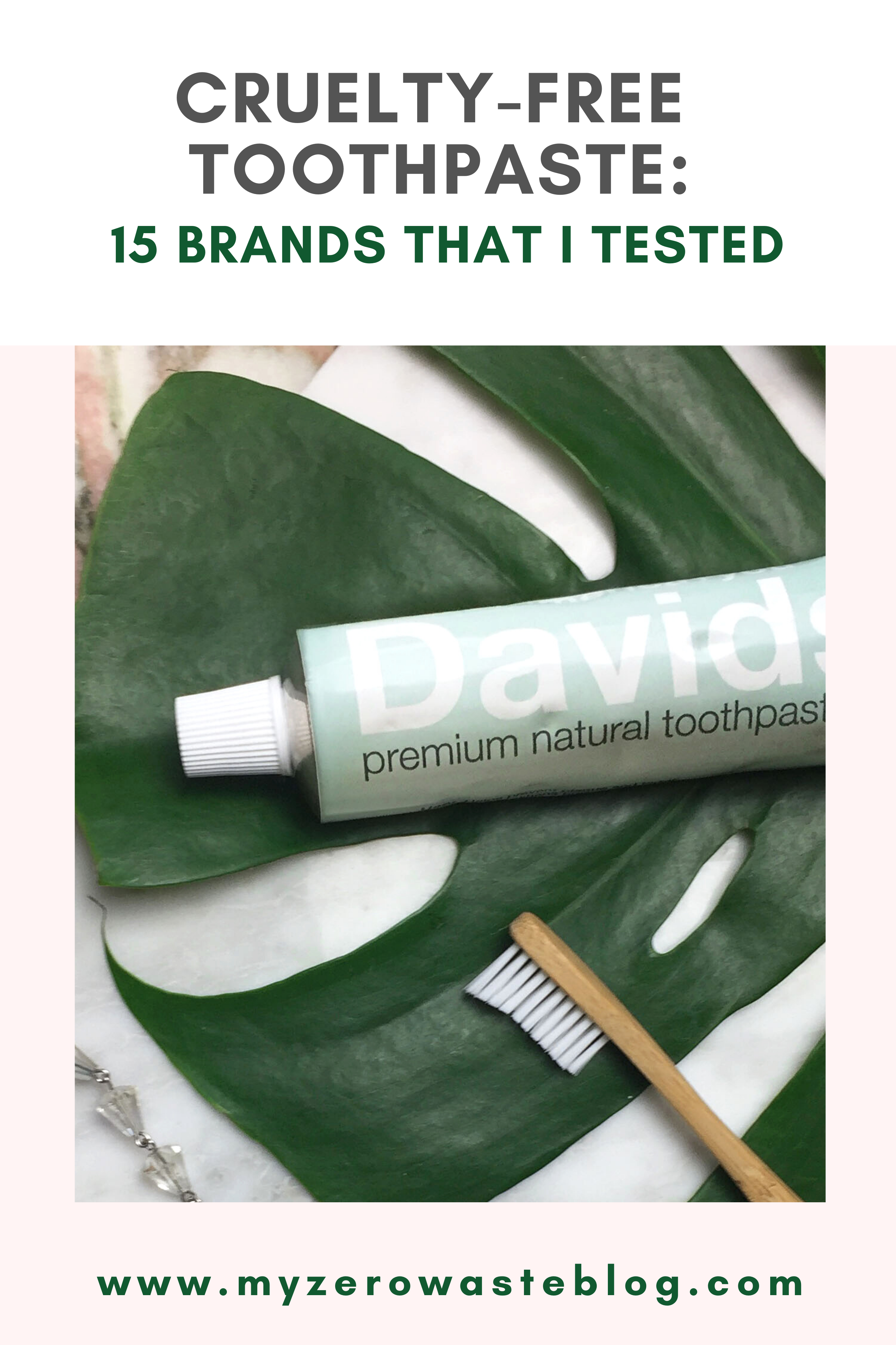 Cruelty Free Toothpaste 15 Brands That I Tested Zero Waste Blog